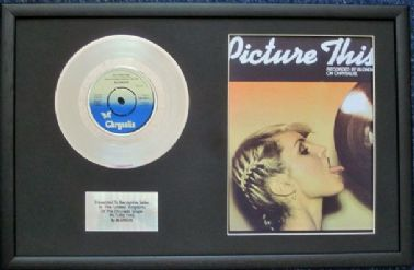 "BLONDIE - 7"" Platinum Disc & Song Sheet - PICTURE THIS"